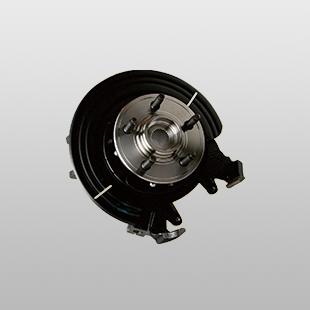 汽车轮毂单元与转向节总成