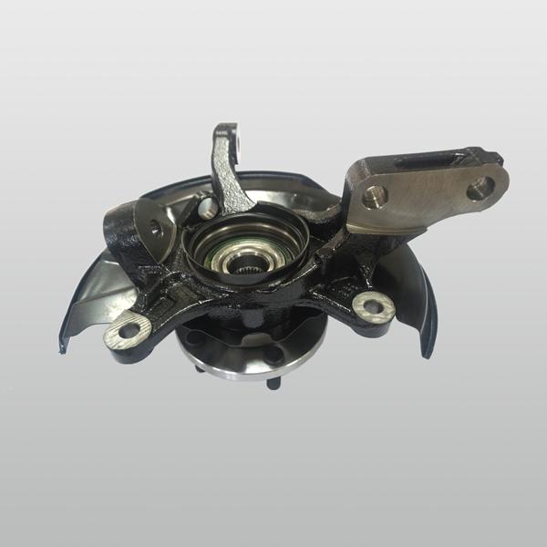 轮毂轴承单元与转向节总成